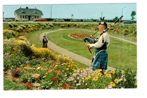 Bag Pipers in the Sunken Gardens, Amherst, Nova Scotia