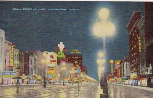 Louisiana Shreveport Canal Street At Night