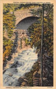 19343 NY  Ithaca, Cornell University, Central Avenue Bridge over Cascadilla G...