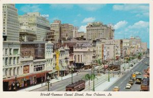 Louisiana New Orleans Trolleys On Canal Street sk6548