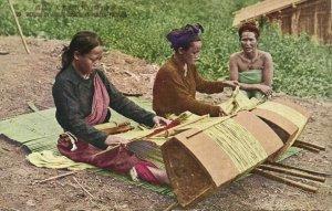 formosa taiwan, KAPPANZAN, Native Women Weaving (1930s) Postcard