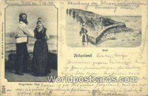Helgoland Germany, Deutschland Postcard Heloglander Tanz Helgoland Heloglande...