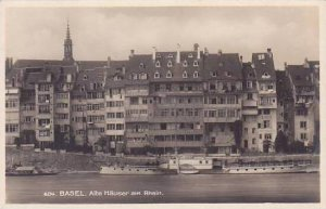 Germany Basel Alte Haeuser am Rhein Real Photo