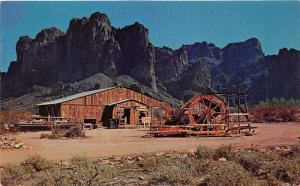 Apache Junction Arizona~Mining Camp Restaurant~Rustic Building~Map on Back~1964