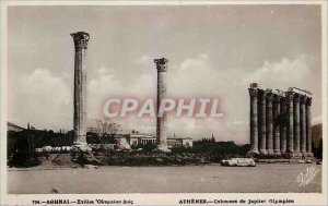 Postcard Modern Athens Colommes of Olympian Zeus