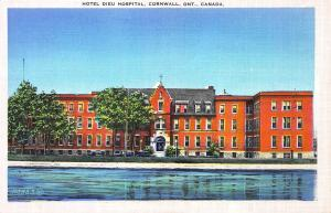 Hotel Dieu Hospital, Cornwall, Ontario, Canada, Early Postcard, unused