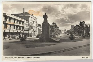 Kenya; Evening, Delamere Avenue, Nairobi RP PPC By AH Firmin, To P White, GB