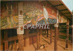 Postcard Modern Libreville Gabon Church of St Michel N'Kembo Mosaic Annunciat...