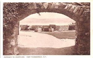 Entrance to Courtyard Fort Ticonderoga, New York Postcard