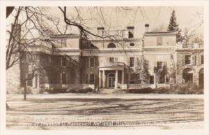New York Hyde Park Front View Of Roosevelt Home Real Photo