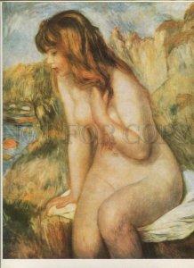 434407 Perre Auguste Renoir Bathing girl on rocky beach german Seemann poster