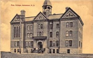 Jamestown ND Pres. College, Published by Bloom Bros. Postcard