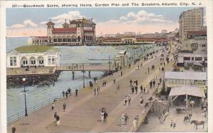 New Jersey Atlantic City Boardwalk Showing Heinz Pier Graden Pier and The Bre...