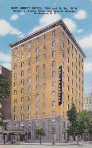 New Ebbitt Hotel, 10th & H. Streets, N.W., Washington, D. C., 1930-1940s