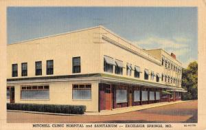 Excelsior Springs Missouri Mitchell Clinic Hospital Antique Postcard K50687