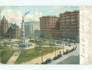 Pre-1907 very early view - LAFAYETTE SQUARE Buffalo New York NY n6155