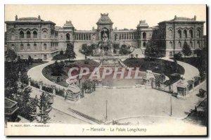 Old Postcard Marseille Le Palais Longchamp