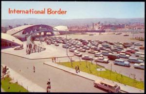 mexico, TIJUANA, Aerial View International Border, Cars