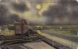 New Jersey Atlantic City The Traymore And Piers At Night Atlantic City 1911
