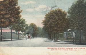 PASSAIC, New Jersey, PU-1908; Pennington Ave, looking North from Lafayette Ave.