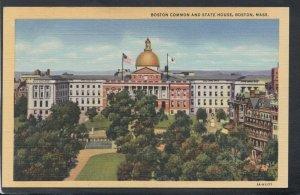 America Postcard - Boston Common and State House, Massachusetts  T9930