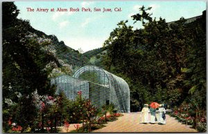 1910s San Jose, CA Postcard The Aviary at Alum Rock Park Bird House UNUSED