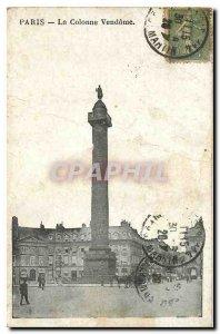 Old Postcard Paris Vendome Column