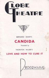 Candida Bernard Shaw Globe Athene Seyler Theatre Programme