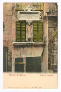 Ricordo di Genova, Casa di Colombo , Italy , 1890s-1905