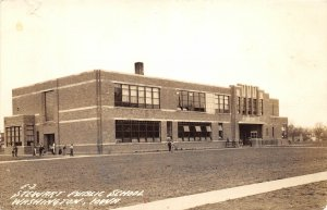 G33/ Washington Iowa RPPC Postcard c1940s Stewart Public School