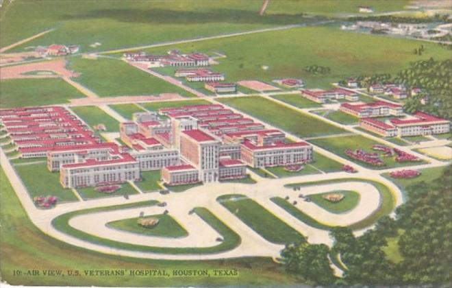 Texas Houston Aerial View U S Veterans Hospital