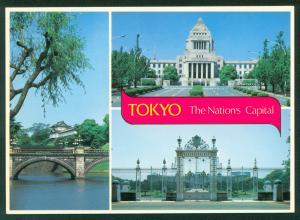 Tokyo Japan The Nations Capital Bridge Building Palace Continental Postcard