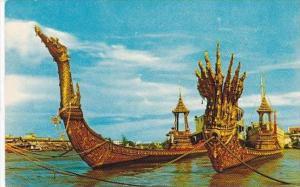 Thailand Bangkok Suwanna-Hongse &  Nakraj Barges Celebration of 25th Centu...