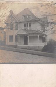 ZANESVILLE & PARKERSBURG RPO POSTMARK~VICTORIAN HOUSE~REAL PHOTO POSTCARD 1908