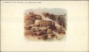 Yellowstone National Park Mammoth Hot Springs HAYNES c1900 Postcard UDB