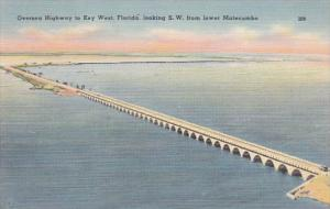 Florida Keys Overseas Highway On Way To Key West Looking Southwest From Lower...