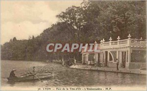 Old Postcard Lyon Park Tete d'Or Embarcadere