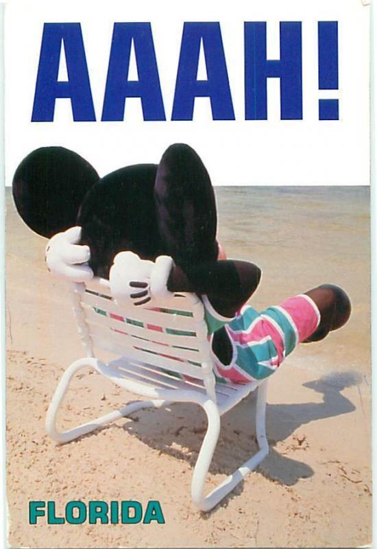 Florida Mickey Mouse on Beach Walt Disney On Sand in Lawn Chair Postcard # 7686  sc 1 st  HipPostcard & Florida Mickey Mouse on Beach Walt Disney On Sand in Lawn Chair ...