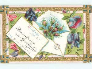 Divided-Back BEAUTIFUL FLOWERS SCENE Great Postcard AA2712