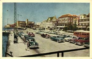 curacao, N.W.I., WILLEMSTAD, Brion Square, Cars (1960s)