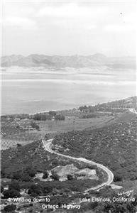 RPPC Ortega Highway, LAKE ELSINORE, CA Plunkett Photo c1950s Vintage Postcard