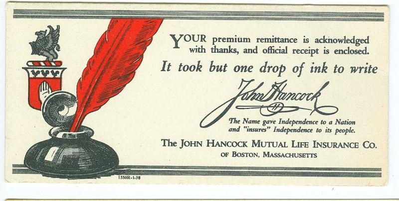 John Hancock Mutual Life Insurance, Boston Mass