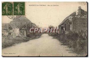 Cambrai Beaumetz - Street Cemetery Old Postcard