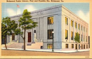 Virginia Richmond Public Library First and Franklin Streets