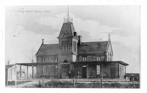 F63/ Berea Ohio RPPC Postcard c1950s Union Railroad Depot REPRINT Loco 7