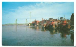 A Scene in the harbor of Portsmouth, NH, unused Postcard