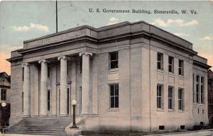 E78/ Sistersville West Virginia Postcard 1915 U.S. Government Building