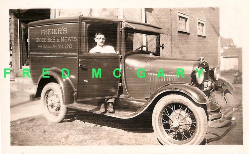 1922 Dayton OH RP Freier's Grocery & Meat Delivery Truck