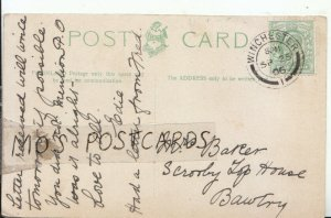 Genealogy Postcard - Baker - Scrooby Top House - Bawtry - Ref 8914A