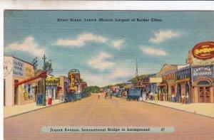 P1754  Mexico Juarez Street Postcard Old Vintage Card View Standard Souvenir pc